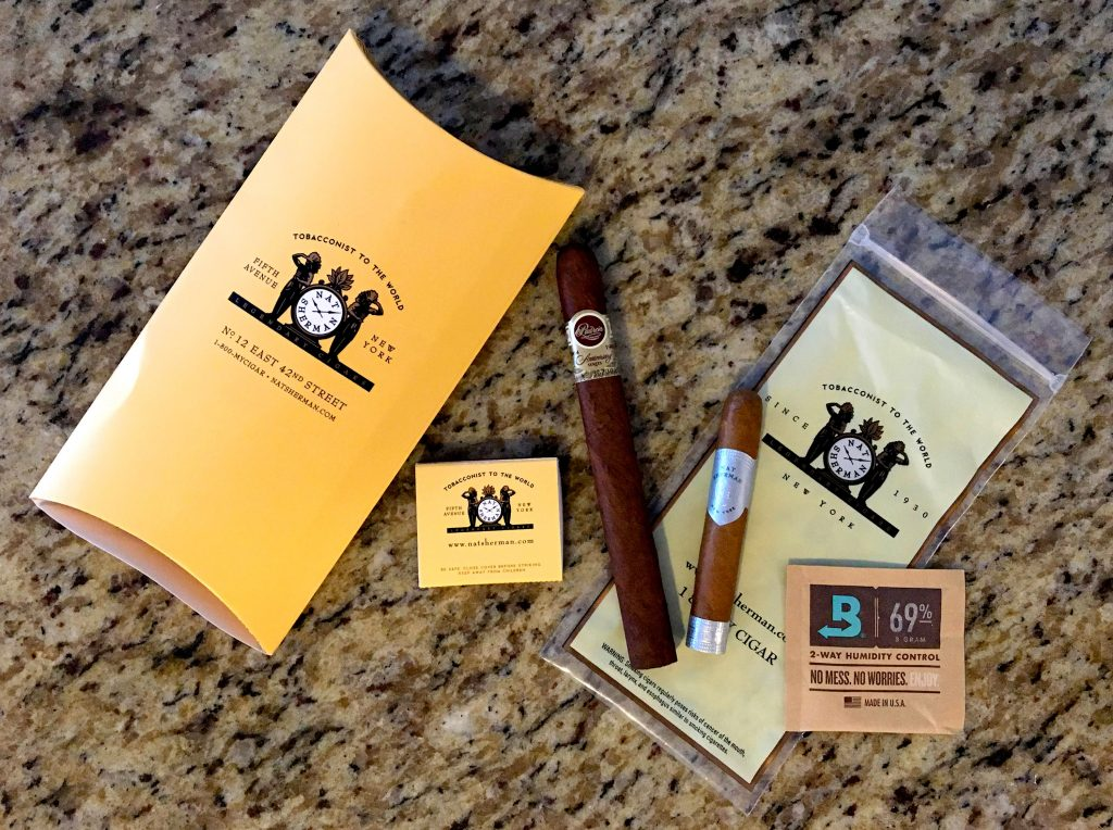 Cigar Package From Nat Sherman Cigars New York