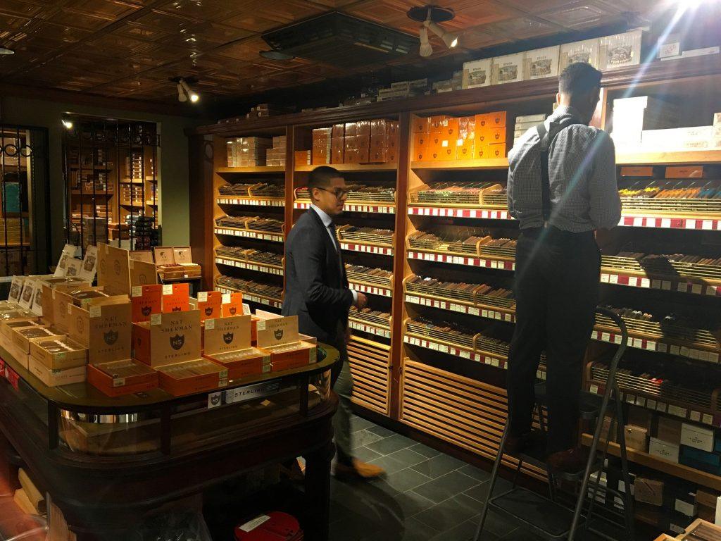 Nat Sherman Cigar Shop NYC - Inside the Humidor