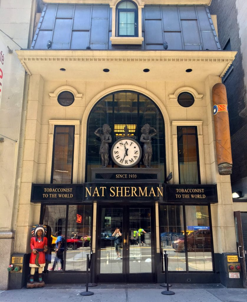 Nat Sherman Cigar Shop NYC - Storefront