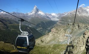 [VIDEO] Gondola Ride from Sunnegga to Blauherd, Zermatt Switzerland
