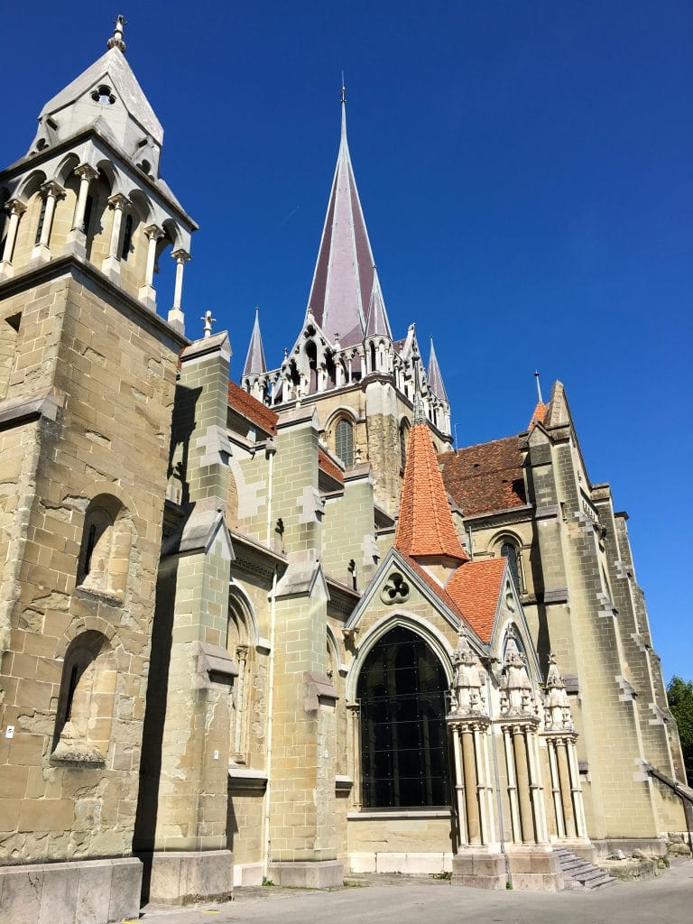 A Visit to the Ancient Cathedral of Lausanne - Outside View of the Cathedral
