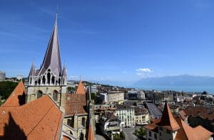 Exploring the Cathedral of Lausanne - View from the First Level