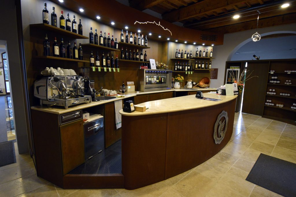 Fortress of Montepulciano Wine Shop - Front Desk of the Wine Shop