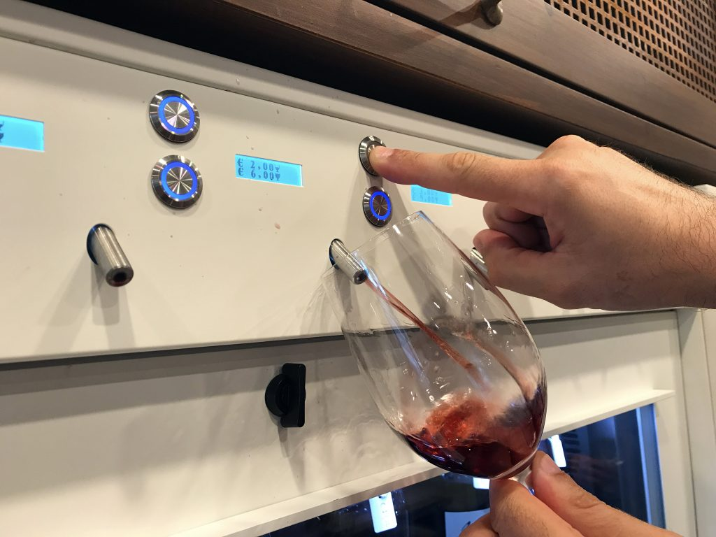 Fortress of Montepulciano Wine Shop - Tasting a Glass of Wine