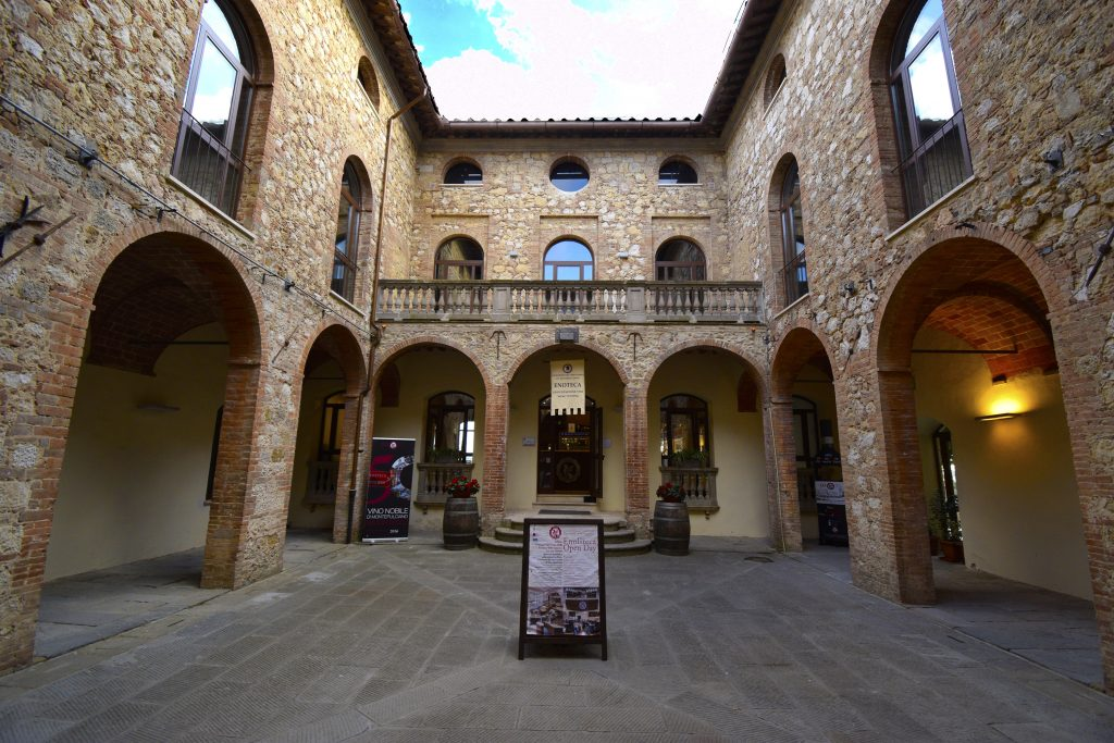 Fortress of Montepulciano Wine Shop - The Courtyard of the Fortress