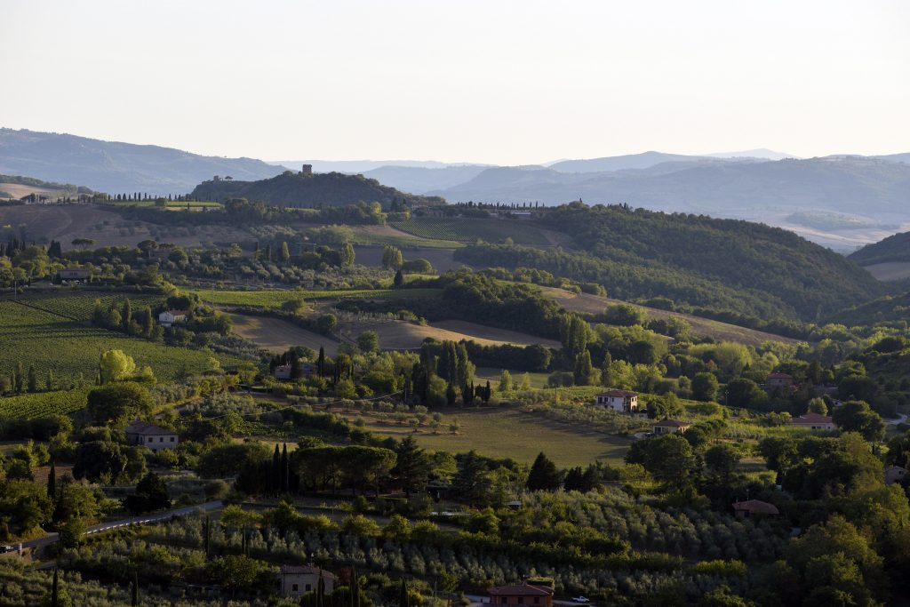 Fortress of Montepulciano Wine Shop - View of Tuscan Countryside