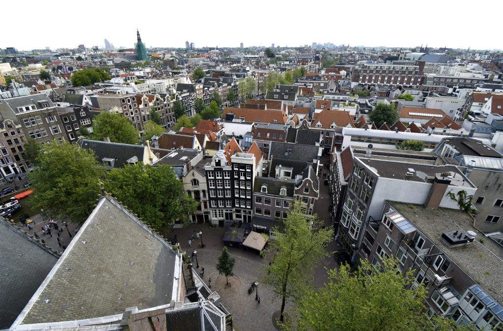 Fun Things to do in Amsterdam - View from Oude Kerk Church Tower