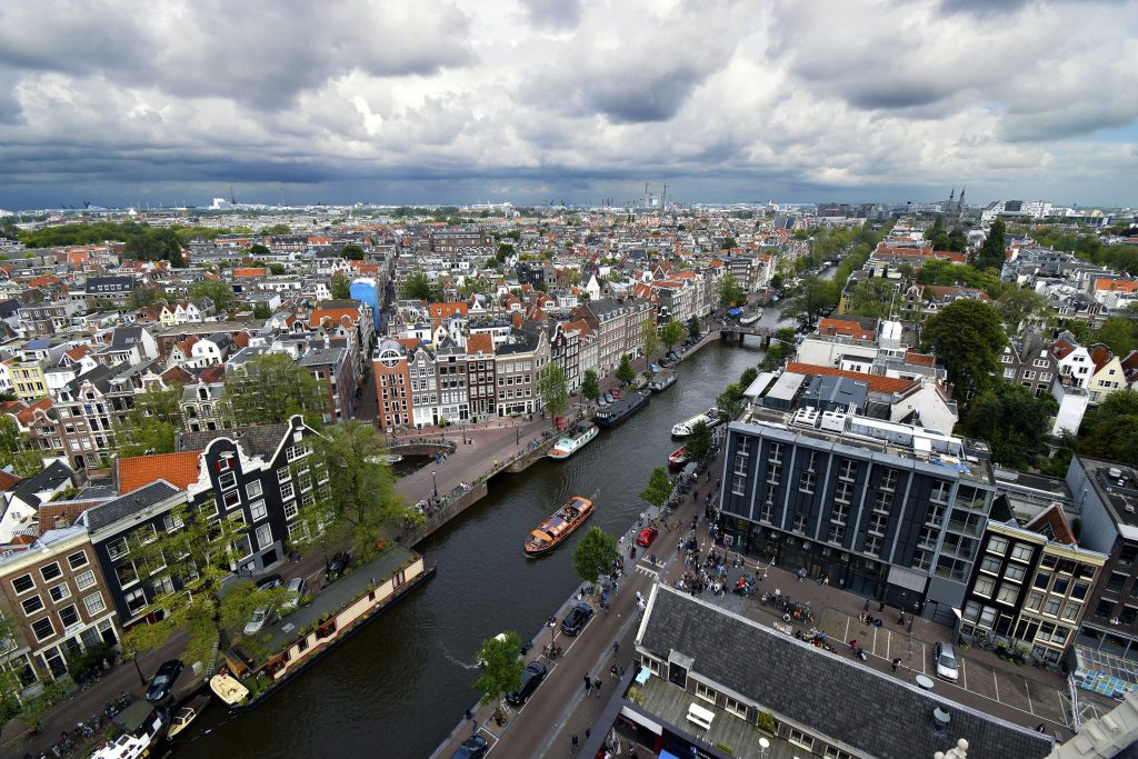 Fun Things to do in Amsterdam - View from Westerkerk Church
