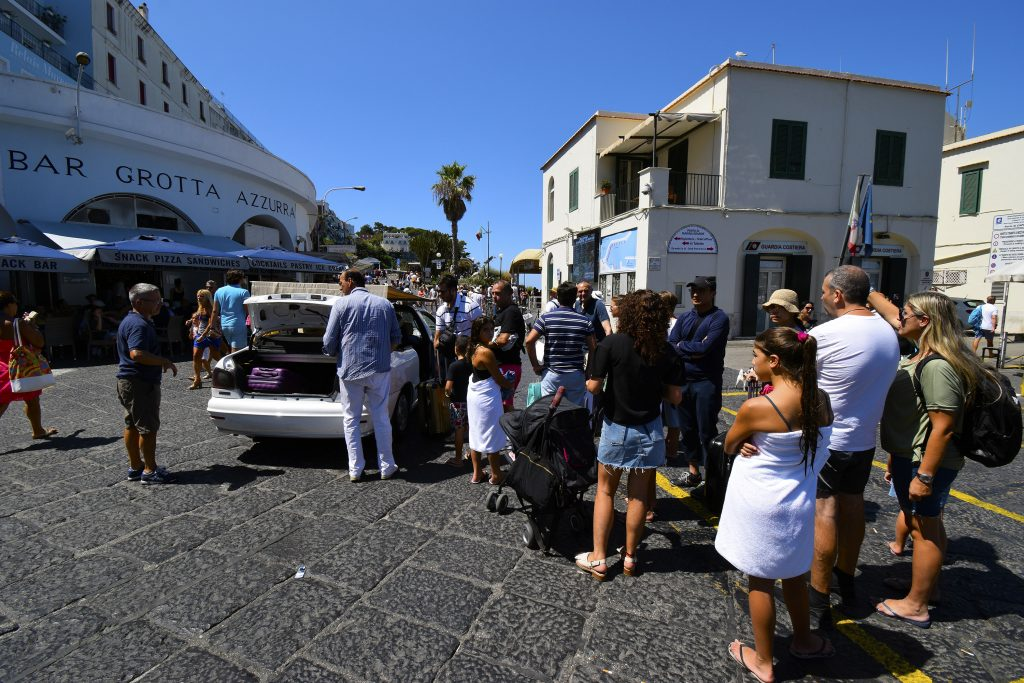 How to Get to the Blue Grotto on Italy's Amalfi Coast - Waiting for a Taxi in Marina Grande